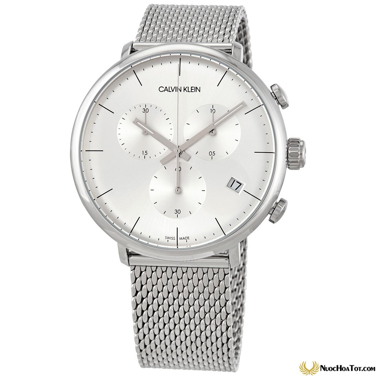 Đồng hồ nam CK dây kim loại Quartz K8M27126