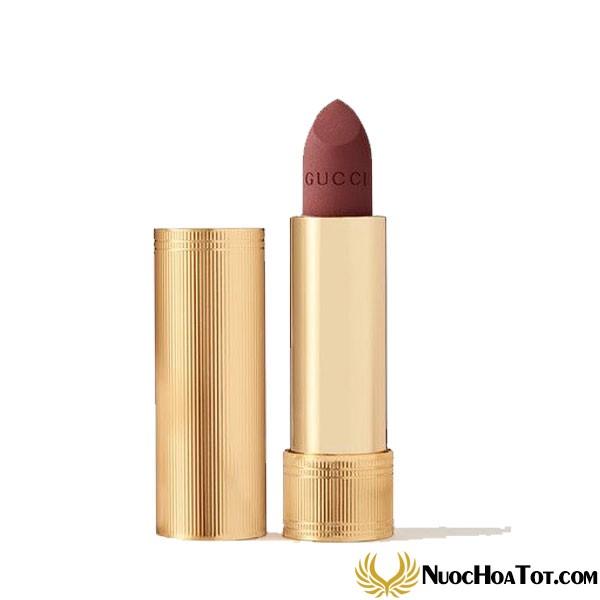 Son Gucci Rouge À Lèvres Voile Mat Màu 506 Louisa Red