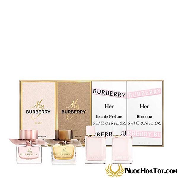 Giftset nước hoa Burberry 4 chai Mini