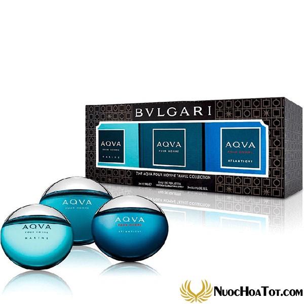 Set nước hoa Bvlgari Aqva Homme Travel Collection 3 chai mini